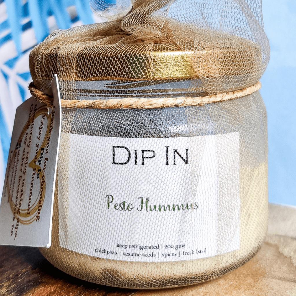 Pesto Hummus - Miniaturefoodie